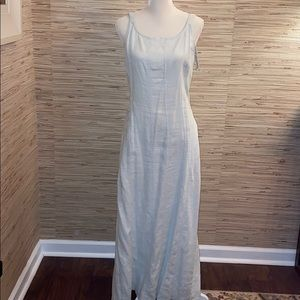 J. Jill size 10 linen maxi dress. Light blue EUC!